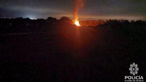 La Policía Local denuncia una quema ilegal cerca de la A7