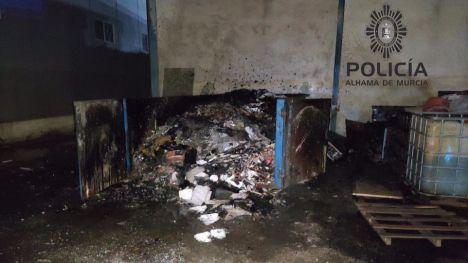 Extinguido un incendio en un contenedor del polígono de Alhama