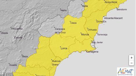 Activan la alerta amarilla por lluvia y tormentas este viernes