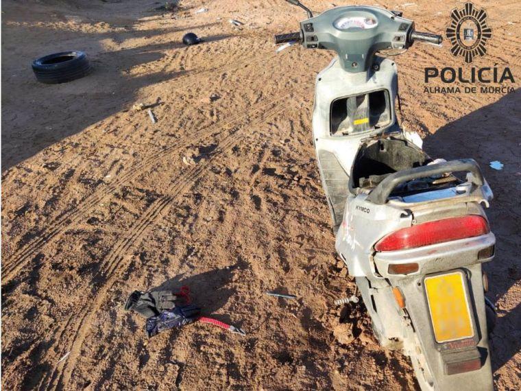 La Policía Local de Alhama recupera un ciclomotor robado