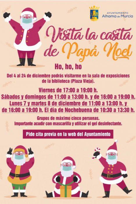 VÍD. Papá Noel recibirá a los niños de Alhama en Plaza Vieja