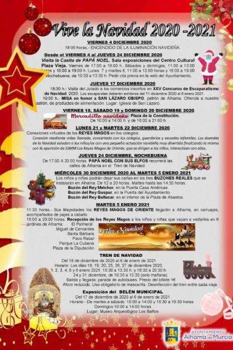 VÍD Festejos presenta el programa de Navidad de Alhama 2020