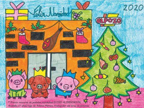 El Pozo felicita las navidades con la mejor postal realizada por los hijos de los empleados