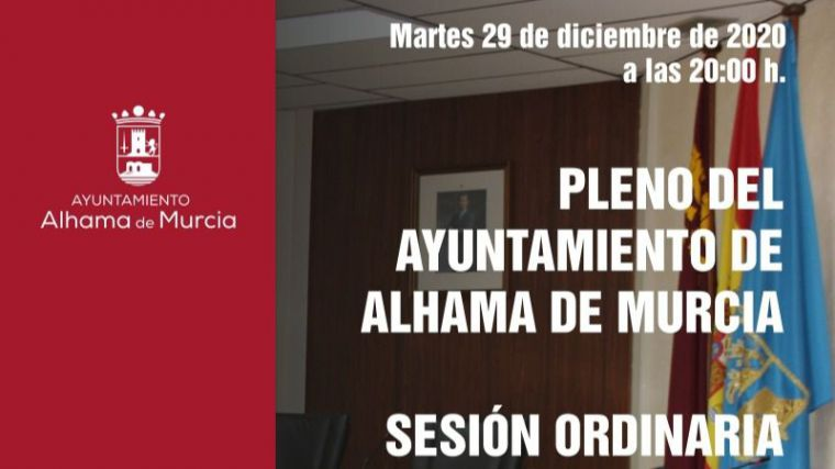 El pleno de Alhama aborda el martes 29 el último pleno del año
