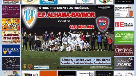 La EF Alhama se enfrenta este sábado contra el CF Molina
