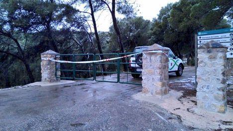Cortan el acceso a Sierra Espuña por la borrasca Filomena