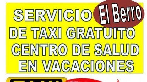 Taxi gratis para los vecinos de El Berro para ir al médico