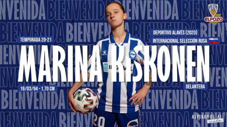El Alhama CF refuerza la línea ofensiva: Marina Kiskonen