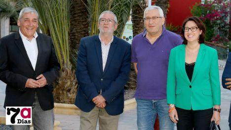 Isabel Cava, con responsables locales y regionales de Ciudadanos