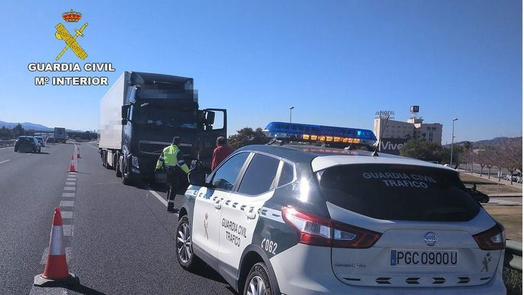 Detenido en Totana en dirección contraria por la autovía