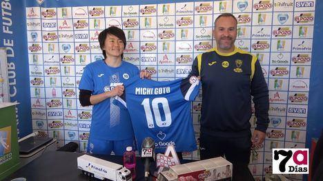 VÍDEO El Alhama CF presenta a su nuevo fichaje: Michi Goto