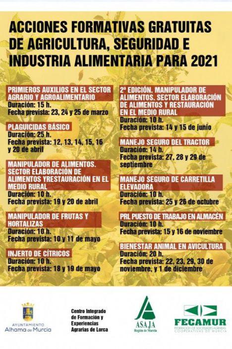 Nueva oferta de cursos gratuitos este 2021 en Alhama