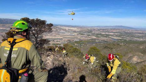 El incendio en la sierra de Carrascoy quemó un total de 24,6 hectáreas