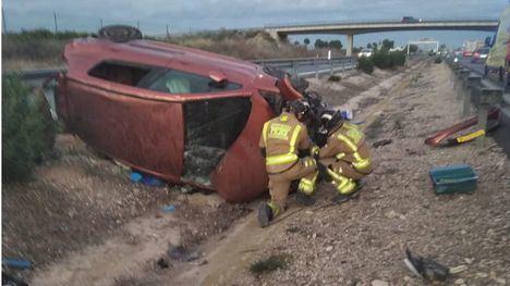 Dos hombres, heridos en un accidente de tráfico en Librilla