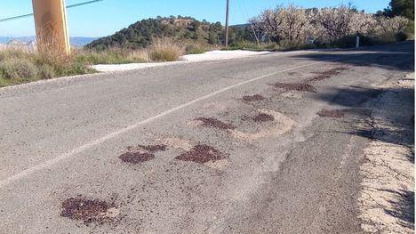 El PSOE exige que el Gobierno regional arregle la carretera a Gebas