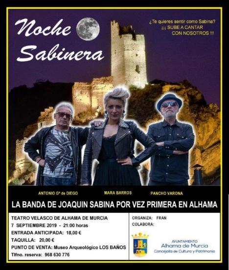 Últimas entradas para el concierto 'Noche Sabinera' en Alhama