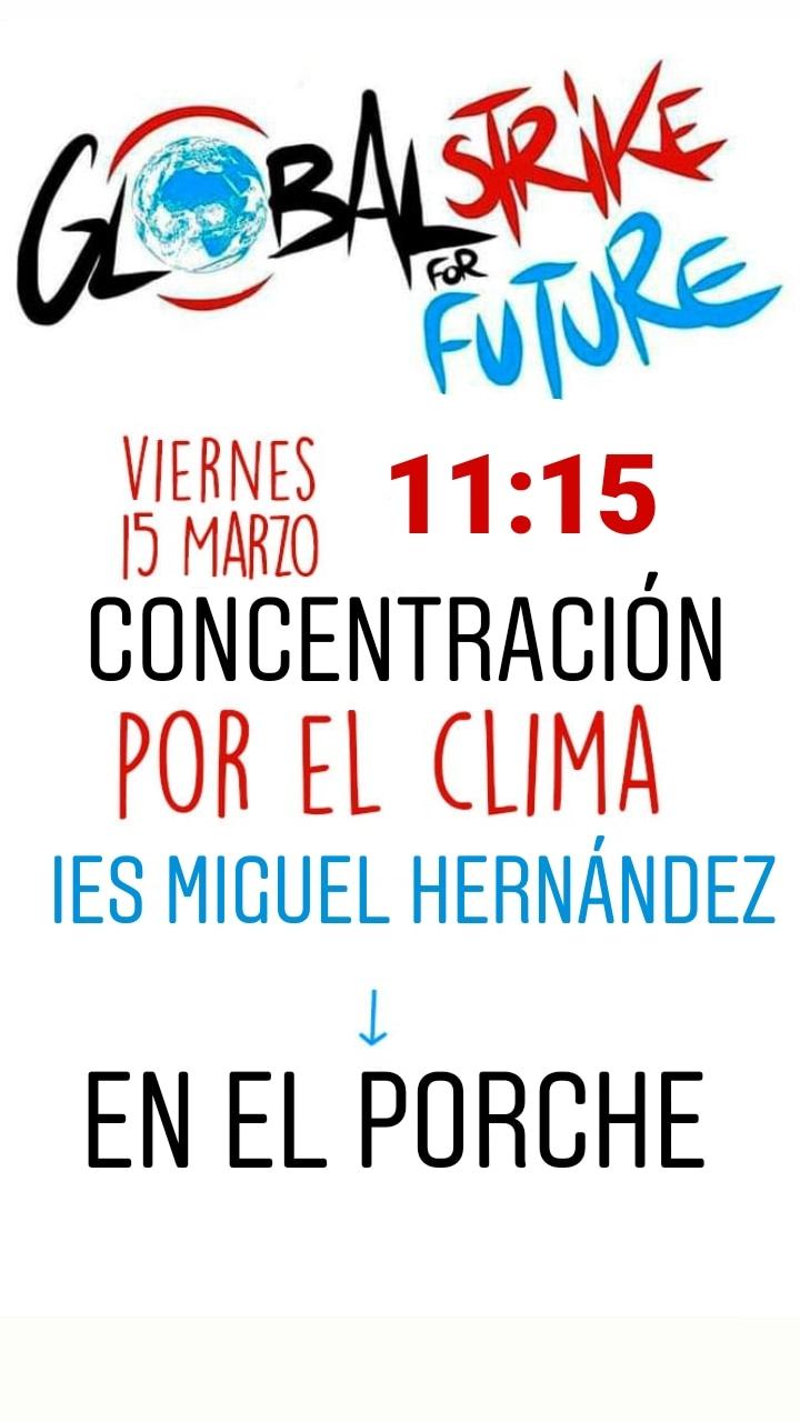 El 'Miguel Hernández' organiza una protesta #PorElClima