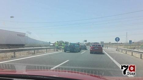 Retenciones en la A7 entre Sangonera y Librilla