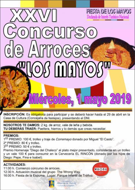 Abierto el plazo para el Concurso de Arroces de Los Mayos 2019