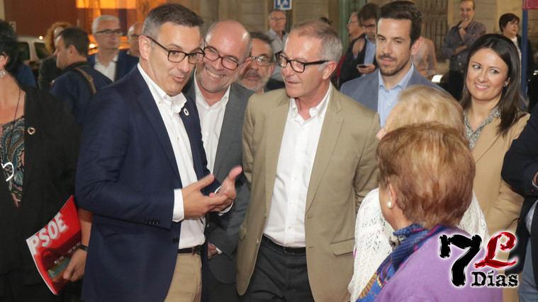 Conesa y Huertas, durante la visita a Librilla del entonces ministro de Cultura, José Guirao